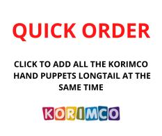 QUICK ORDER - KORIMCO HAND PUPPET L/TAIL