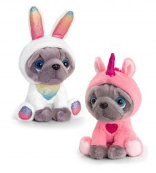 FRENCHIE IN ONESIE 2 ASST 20CM - 10% FREIGHT SURCHARGE APPLIES