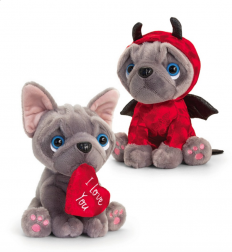 FRENCHIE VAL LGE 20CM 2 ASST - 10% FREIGHT SURCHARGE APPLIES