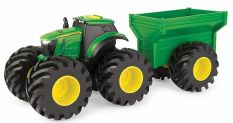 JD MONSTER TREADS TRACTOR WITH WAGON, LIGHTS & SOUND