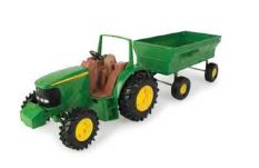 JD TRACTOR WITH WAGON 20CM