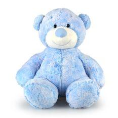 CUPCAKE BEAR LGE BLUE 38CM  - 10% FREIGHT SURCHARGE APPLIES