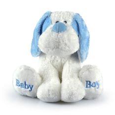 BABY SILKY DOG LGE BLUE 21CM