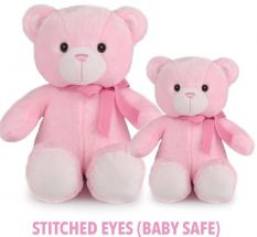 LOU BEAR LGE PINK 40CM  - 10% FREIGHT SURCHARGE APPLIES