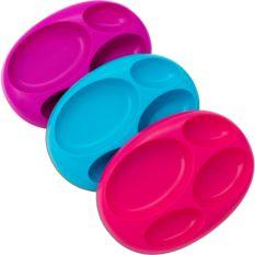 Boon PLATTER Pink/Blue/Purple 3pk