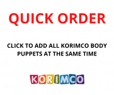 QUICK ORDER - KORIMCO BODY PUPPETS 32CM