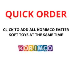 QUICK ORDER - KORIMCO EASTER SOFT TOYS ASST