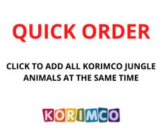 QUICK ORDER - KORIMCO JUNGLE ANIMALS