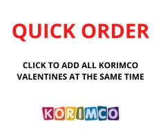QUICK ORDER - KORIMCO VALENTINES