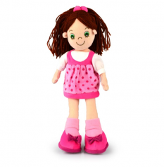 RAG DOLL JESSICA 35CM - 10% FREIGHT SURCHARGE APPLIES