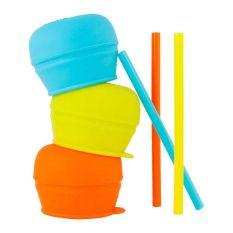 Boon SNUG Straw 3pk lids - Boy