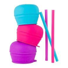 Boon SNUG Straw 3pk lids - Girl