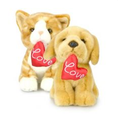 LOVE PETS 2 ASST 18CM