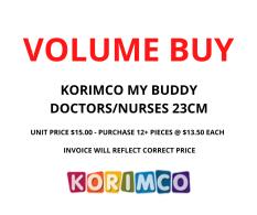 VOLUME BUY MY BUDDY  DOCTOR & NURSE 23CM